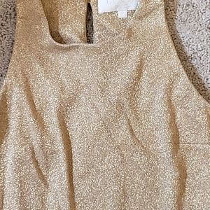 Laundry gold lame' tunic tank